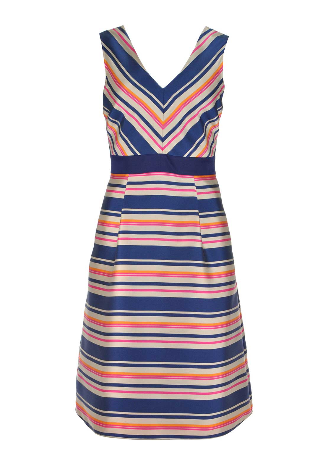 Fee G Striped  Fit and Flare Dress
