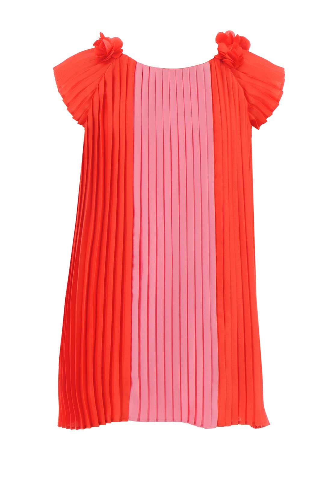 Abel & Lula Pleated Dress, Red