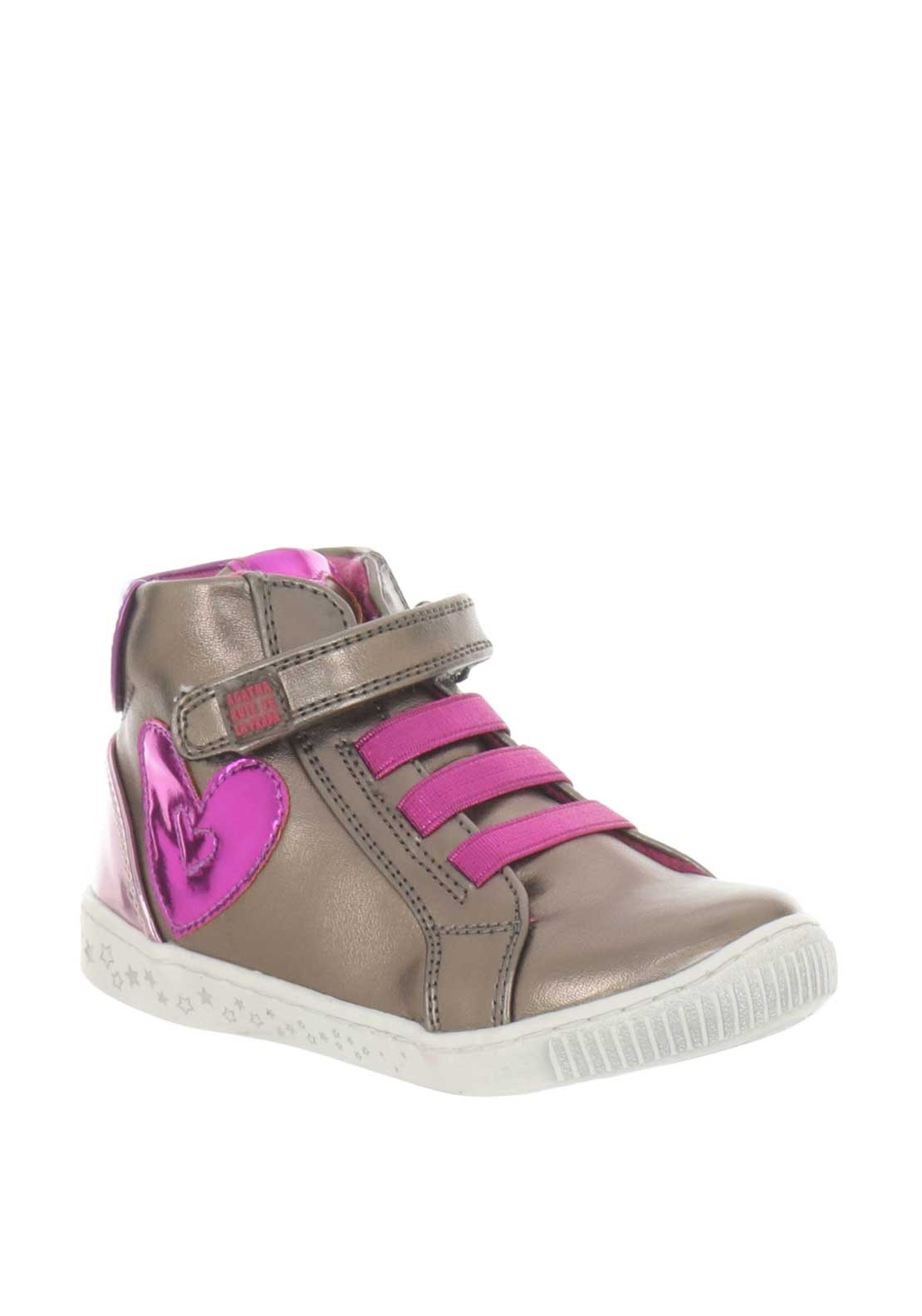 b6201fc2315 Agatha Ruiz De La Prada Girls Metallic Hi Top Trainers, Pewter. Be the  first to review this product