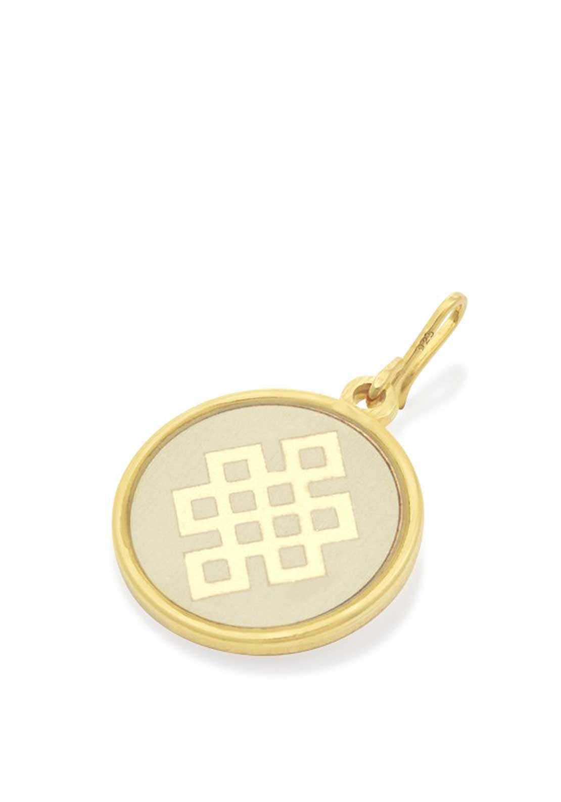 Alex and Ani Chain Station Endless Knot Charm Cream