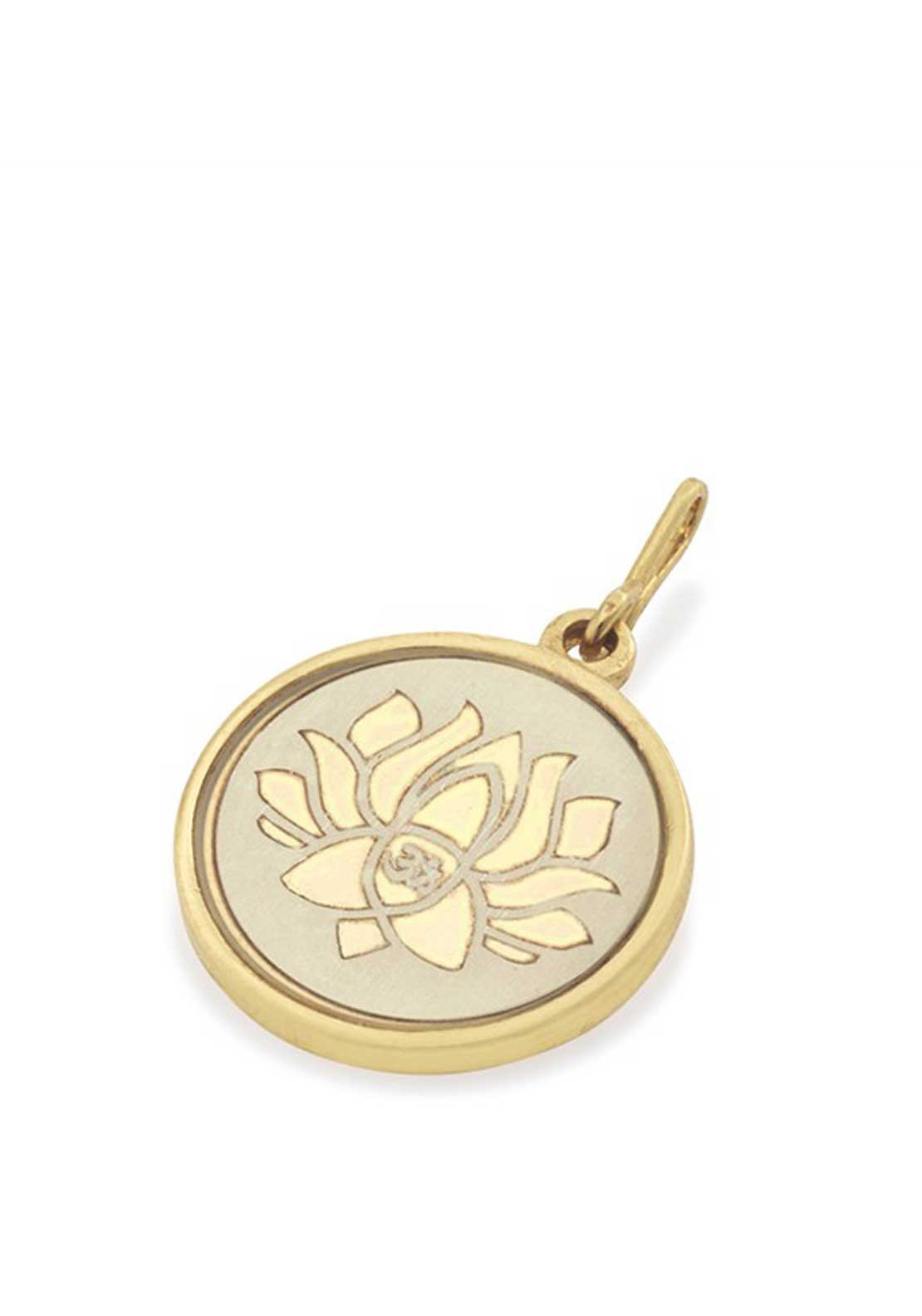 Alex and Ani Chain Station Lotus Peace Petals Charm Cream