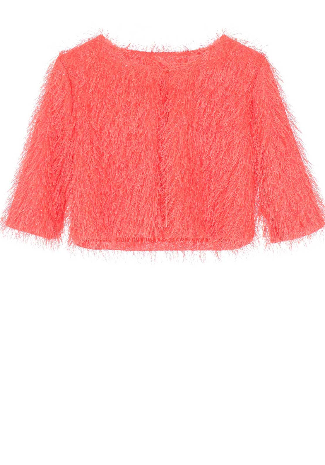 Alice Pi Fringed Bolero Jacket, Orange