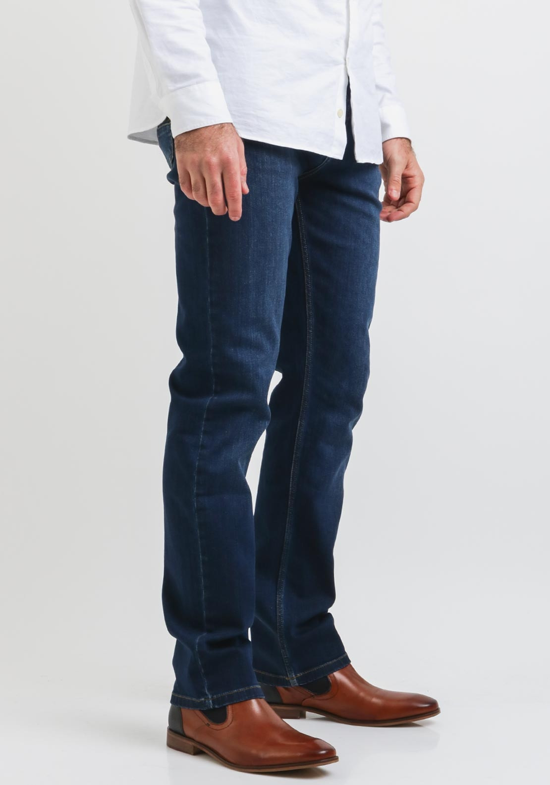 00f87a660db Andre Sanchez Mens Straight Leg Jeans, Navy