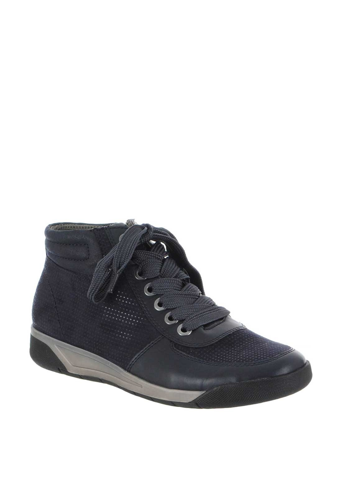 official images limited guantity amazing selection Ara Jenny Shimmer Lace up Boots, Navy