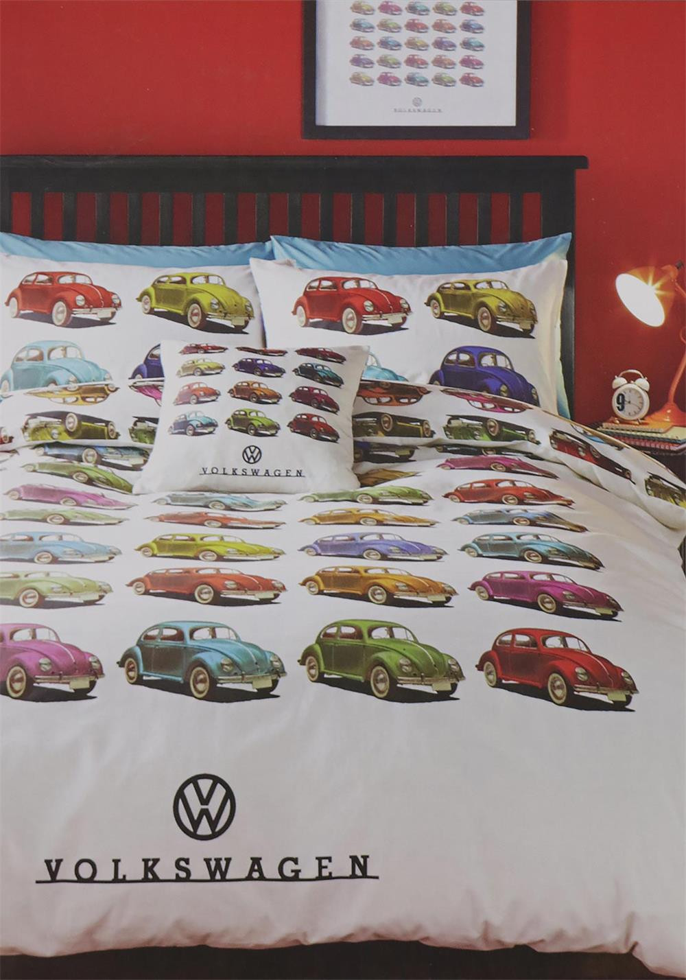 Ashley Wilde Volskwagen Beetles Duvet Cover Set, Multi-Coloured