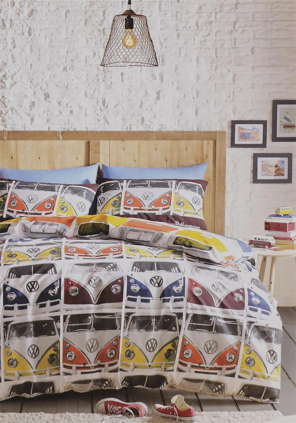 Ashley Wilde Volskwagen Vdub Duvet Cover Set, Multi-Coloured
