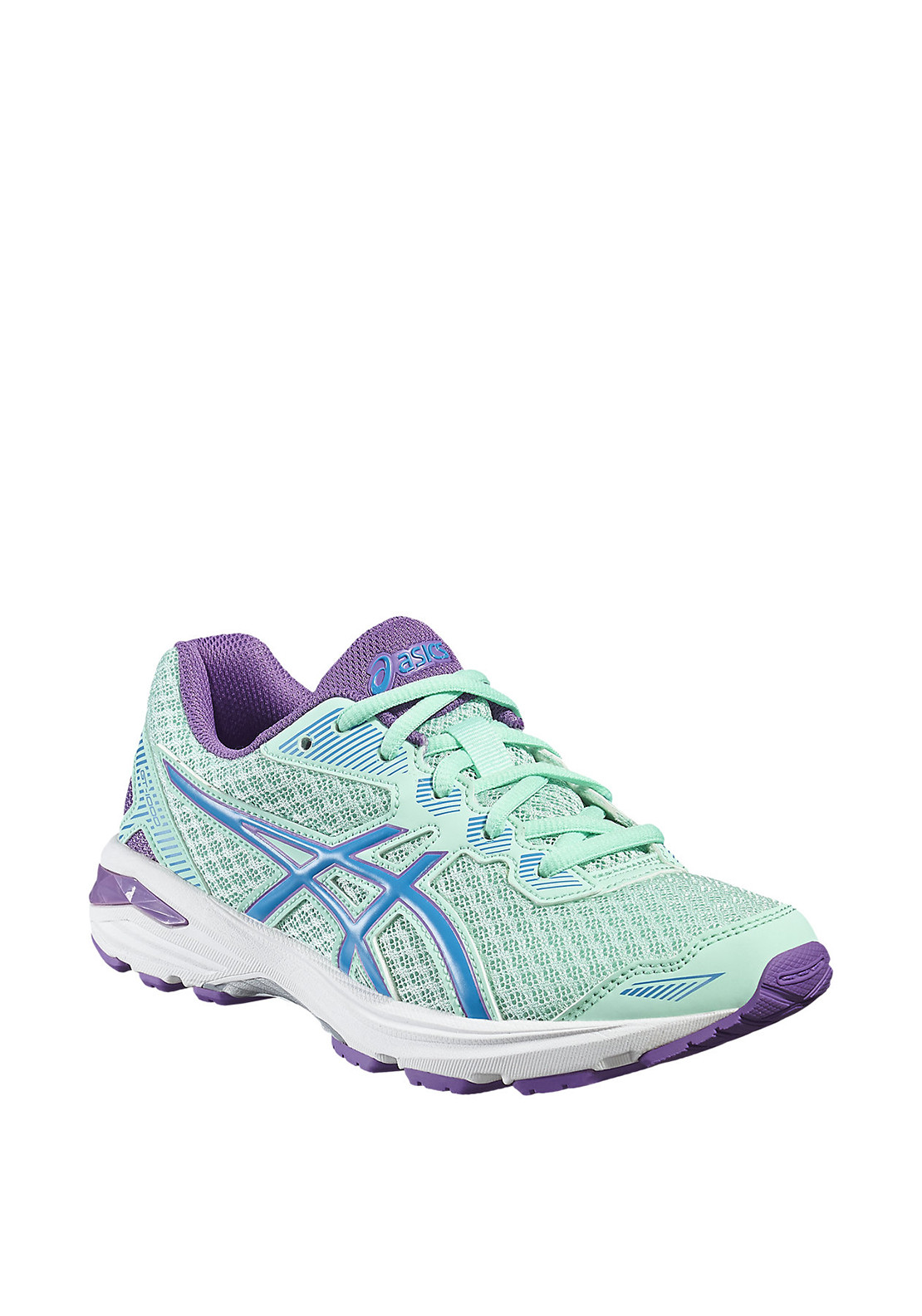 Asics Girls GT-1000 Laced Runners, Green and Purple