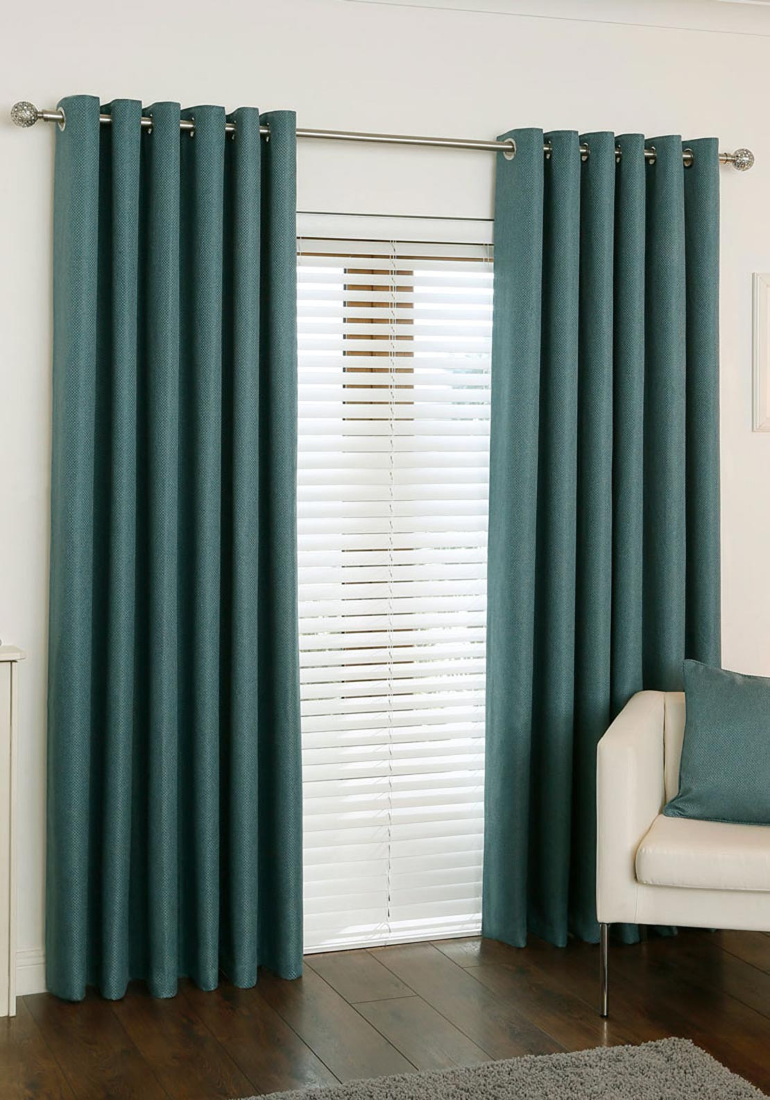 Aura Box Pattern Opus Curtains Teal