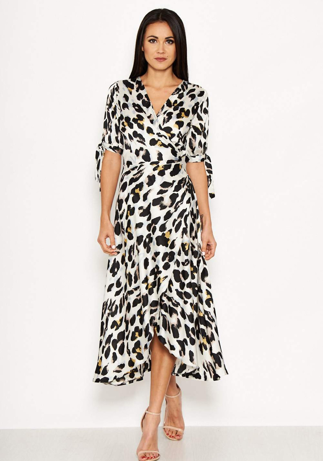 da983b9daf8e AX Paris Animal Print Wrap Dress, Cream. Be the first to review this product