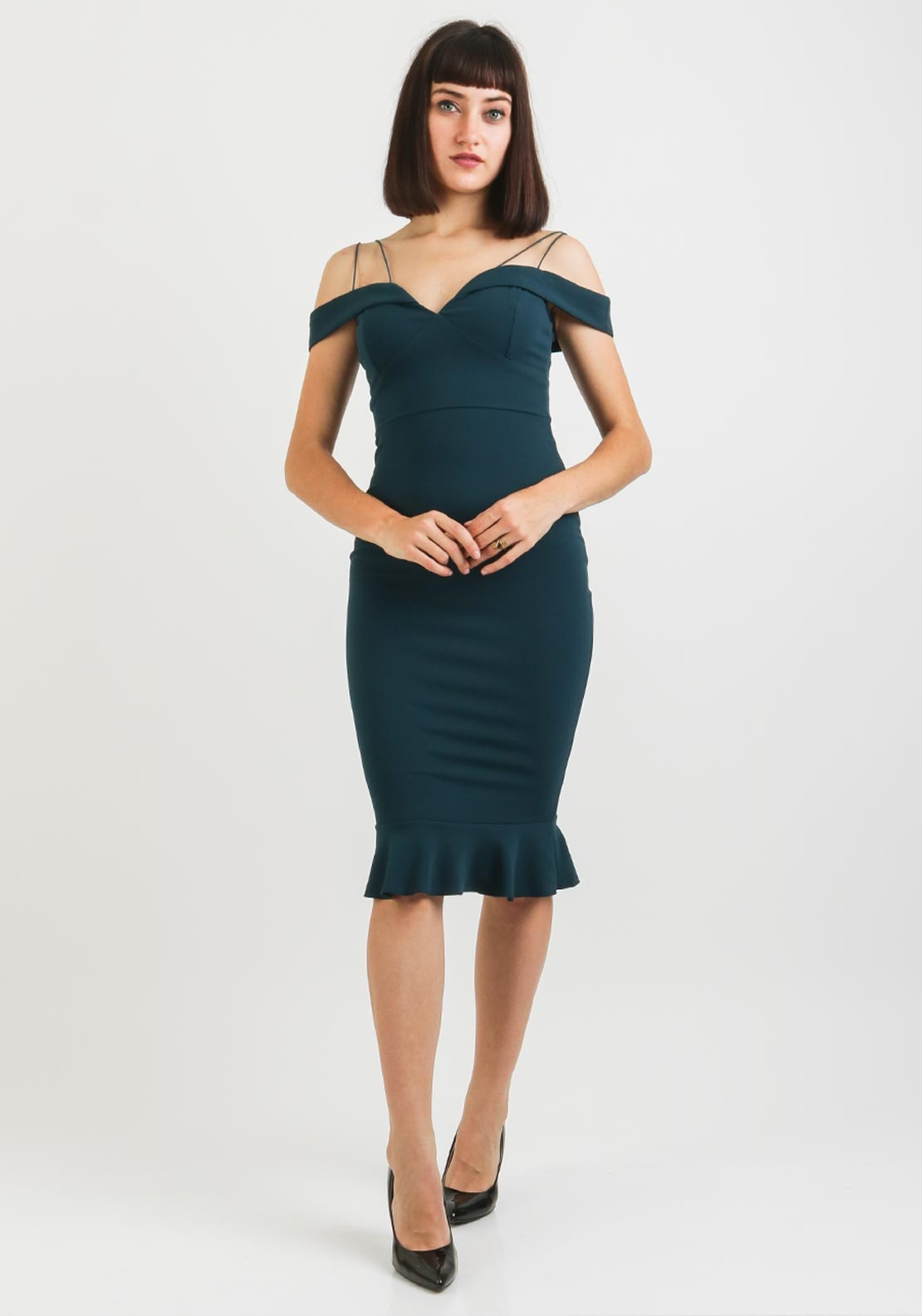 038b7566ab085 AX Paris Off the Shoulder Strappy Fishtail Dress, Teal. Be the first to  review this product