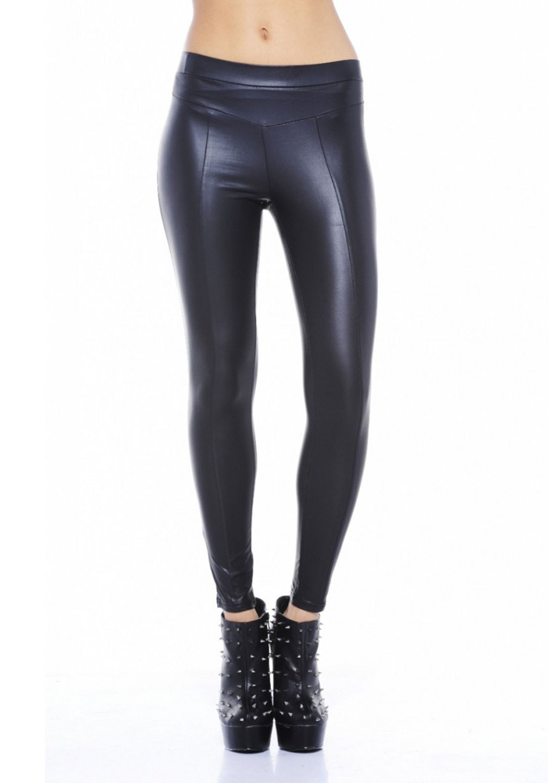 AX Paris Wet Look Leggings, Black