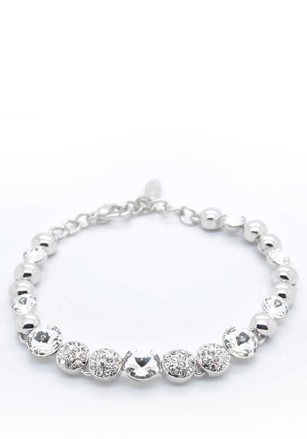 Absolute Jewellery Shimmering Crystal Bracelet, Silver