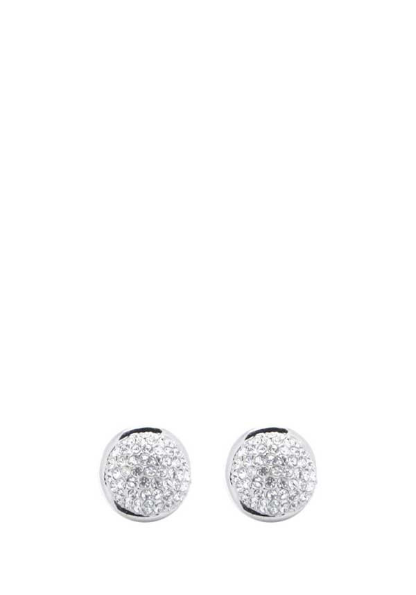 Absolute Jewellery Large Crystal Stud Earrings, Silver