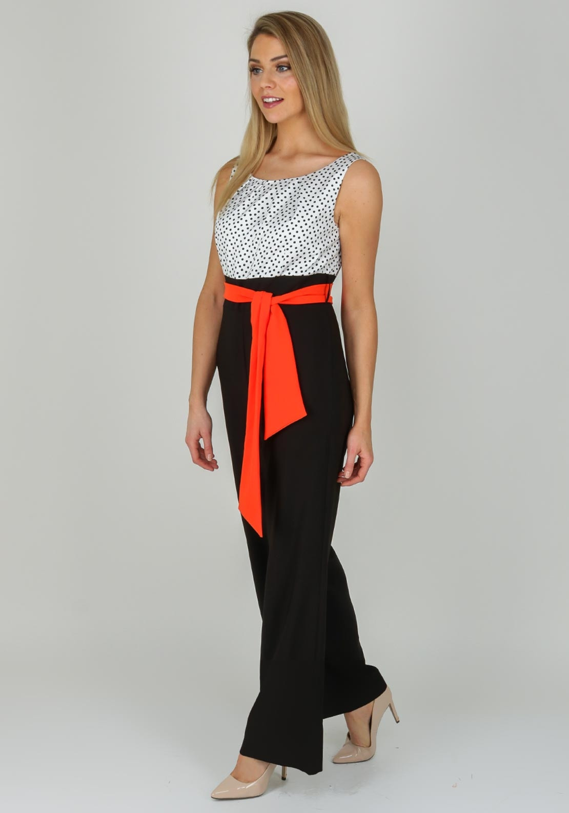 5ab0bf5449 Badoo Polka Dot Wide Leg Jumpsuit, Black Multi | McElhinneys