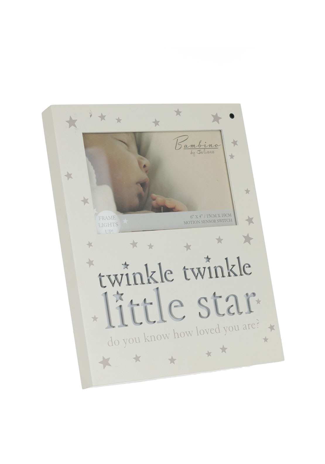 Juliana Bambino Light Up MDF Photo Frame, Cream