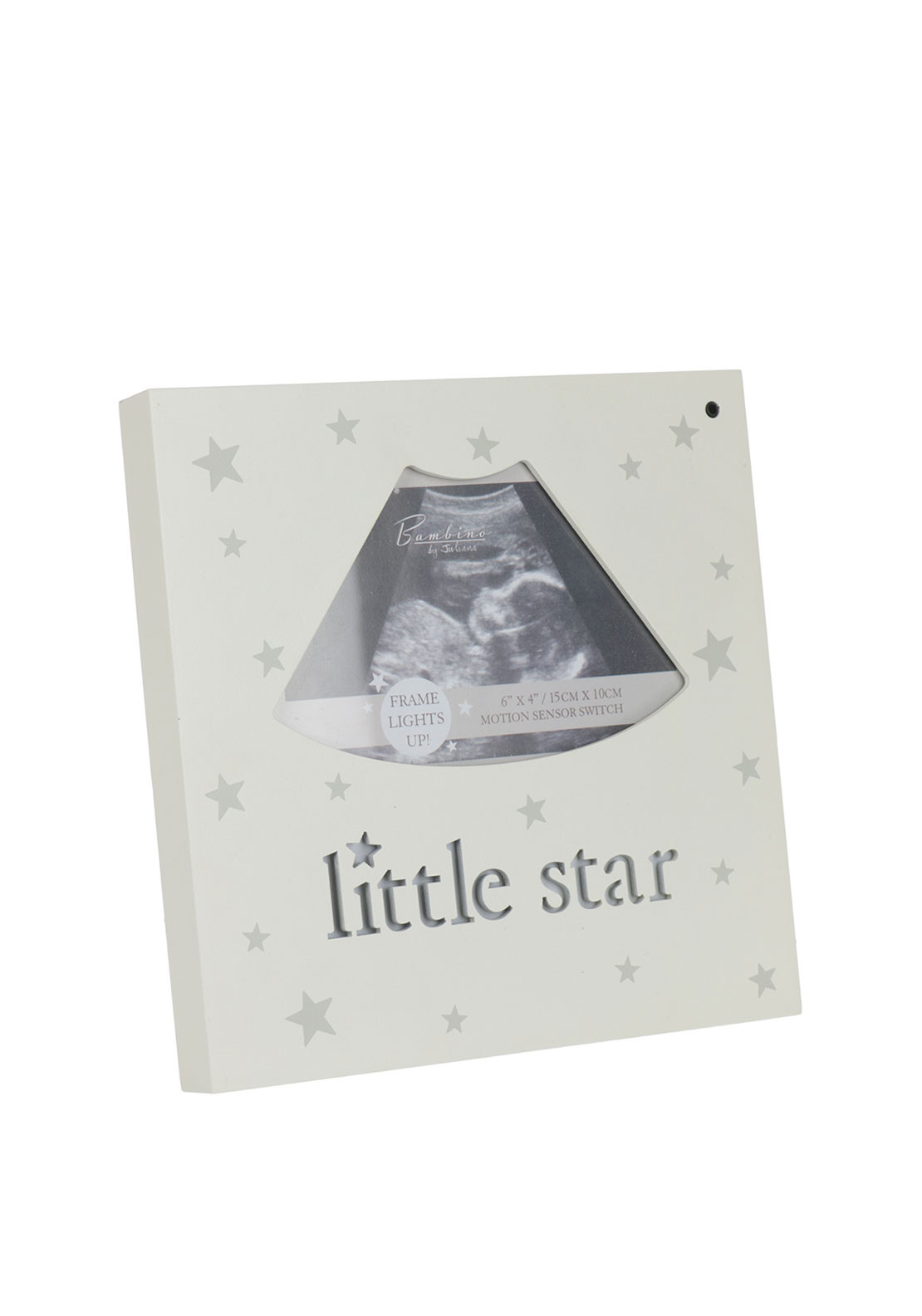 Juliana Bambino Light Up MDF Scan Photo Frame, Cream