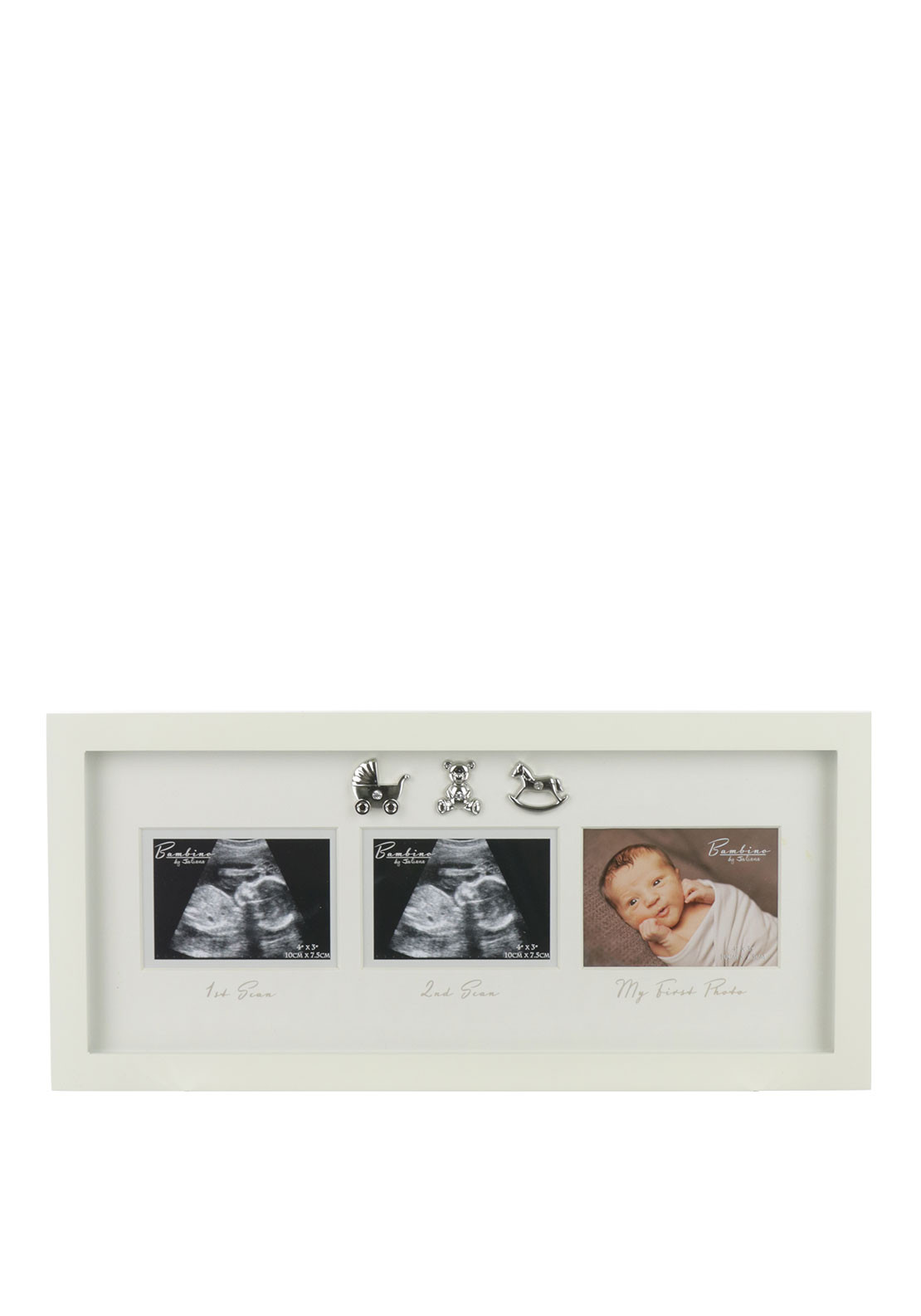 Juliana Bambino MDF Scan Photo Frame, Cream