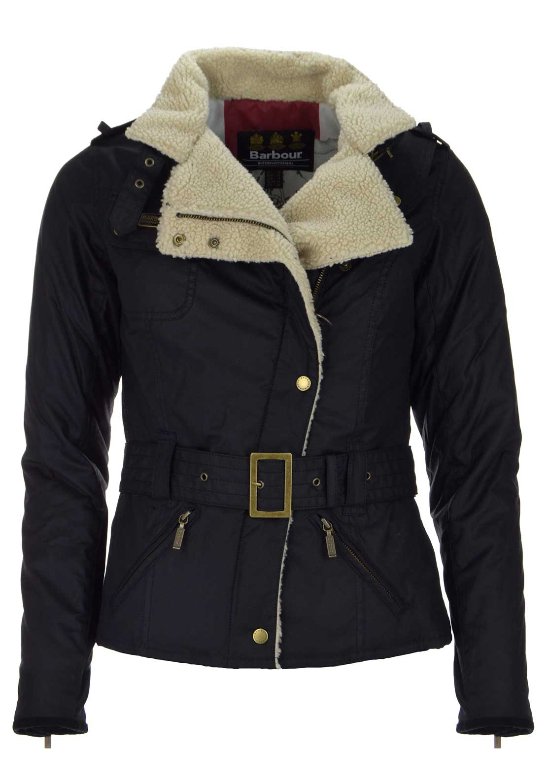 Barbour International Womens Matlock Waxed Jacket, Black