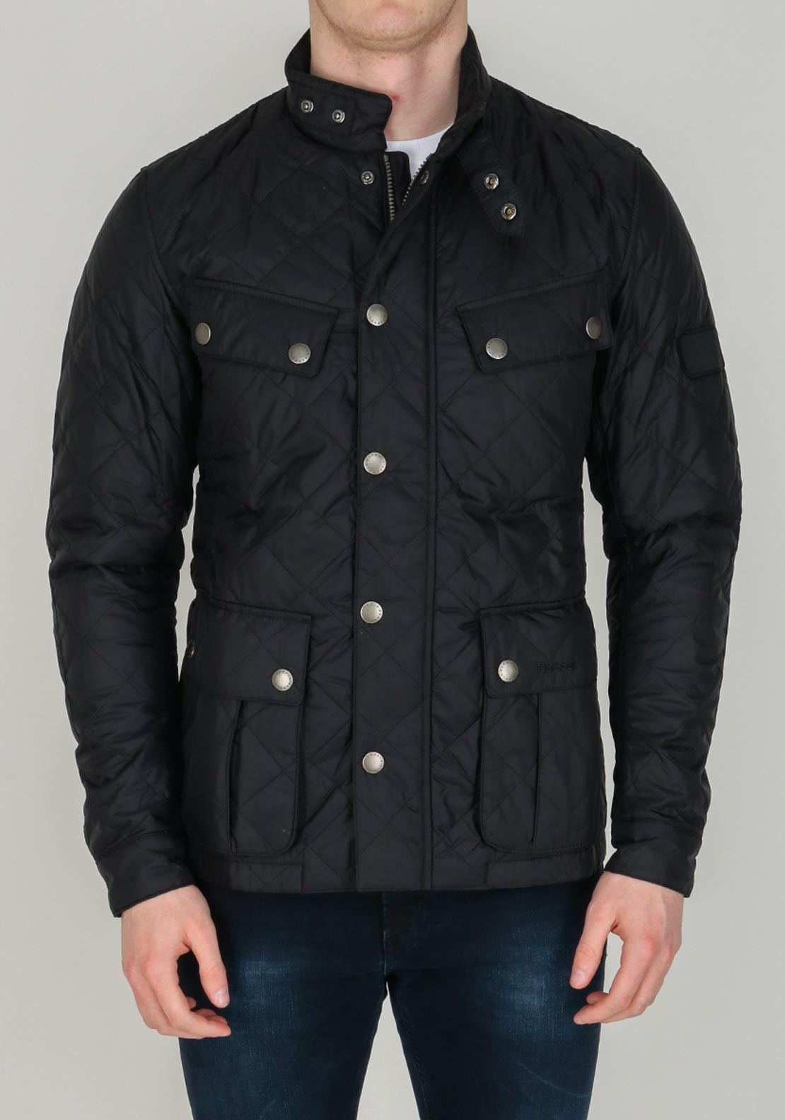 debcf2247 Barbour International Men's Ariel Quilted Jacket, Black. Be the first to  review this product