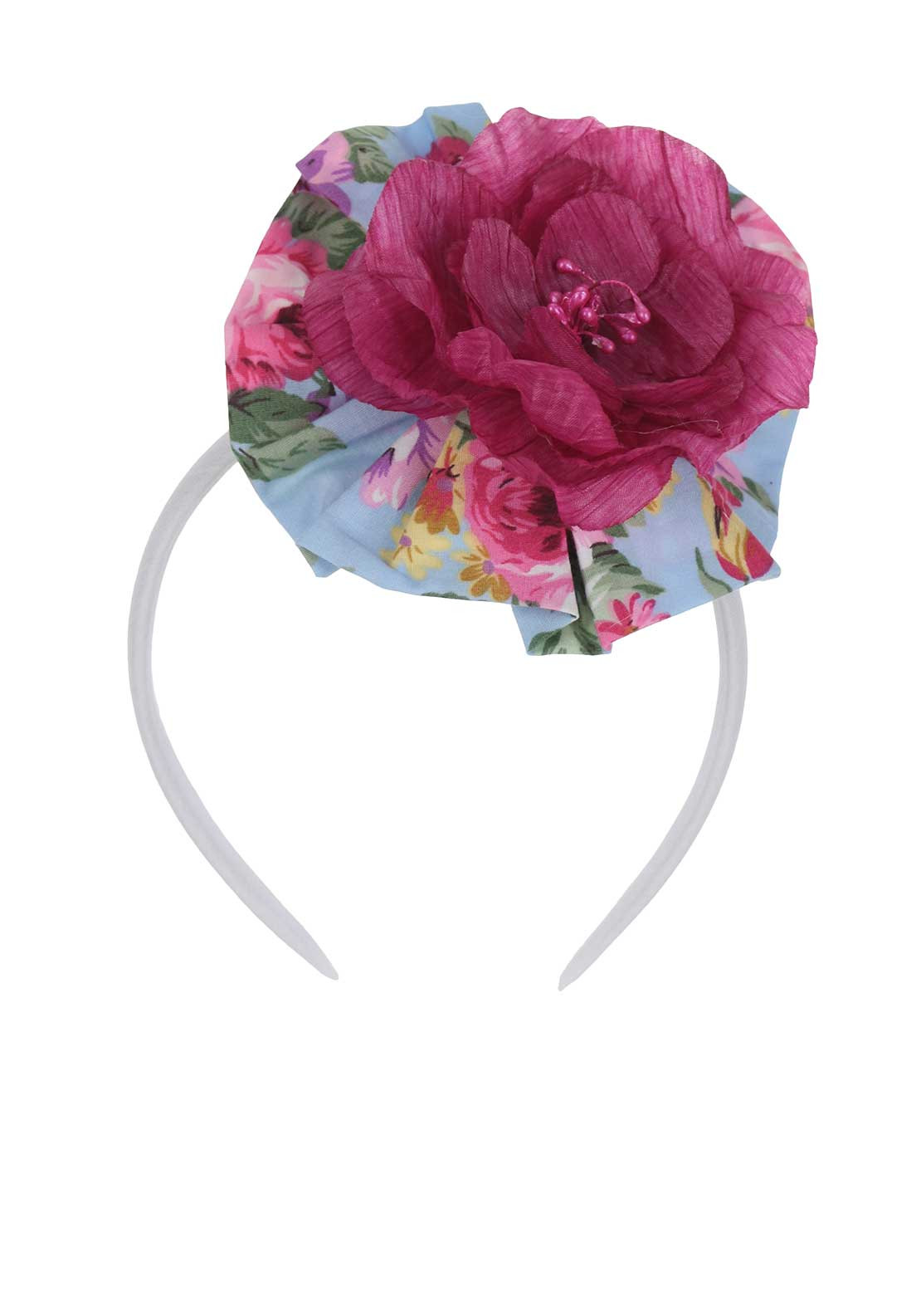 Bea Cadillac Flower Hairband, Pink