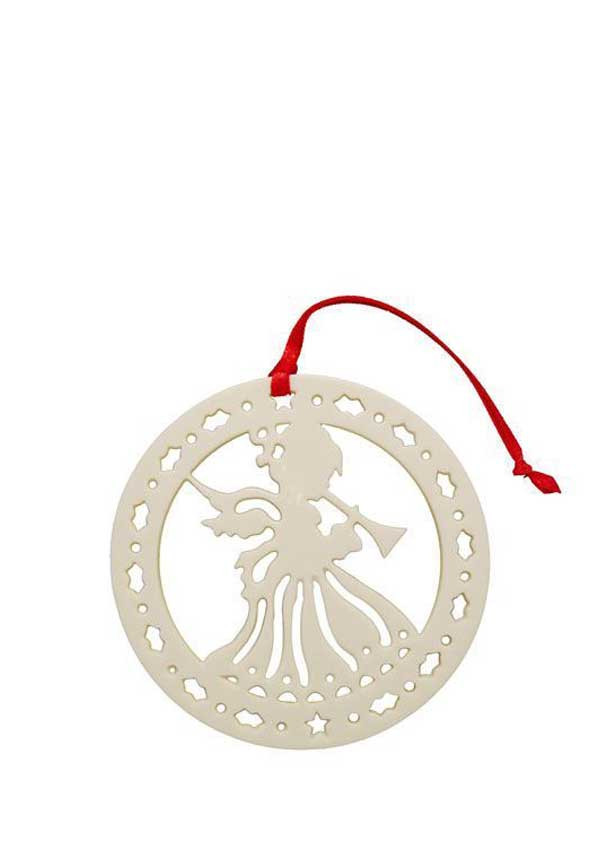 Belleek Living Christmas Angle of Peace Ornament