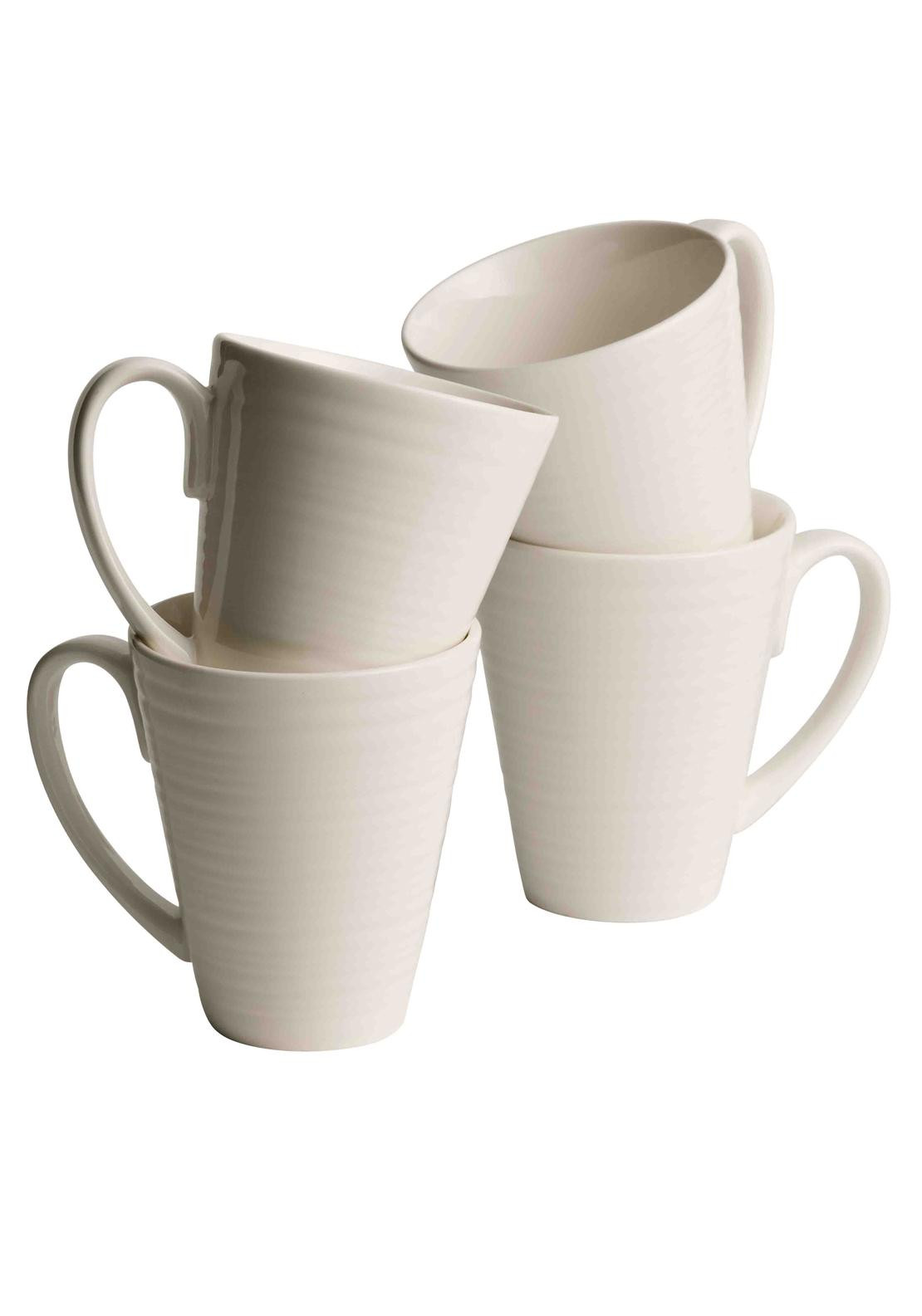 Belleek Ripple Mugs, Set of Four