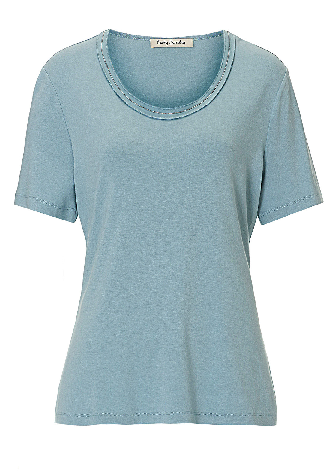 Betty Barclay Stud Trim Short Sleeve T-Shirt, Pale Blue