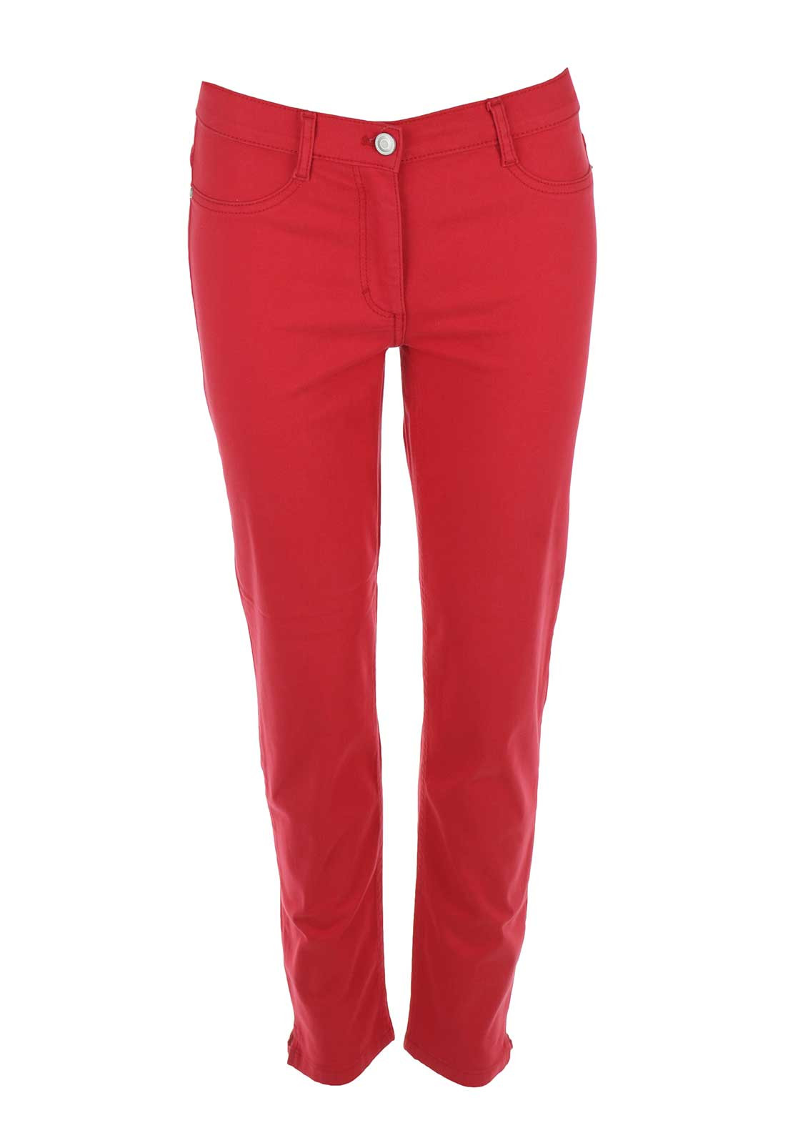Betty Barclay 7/8 Length Slim Fit Jeans, Red