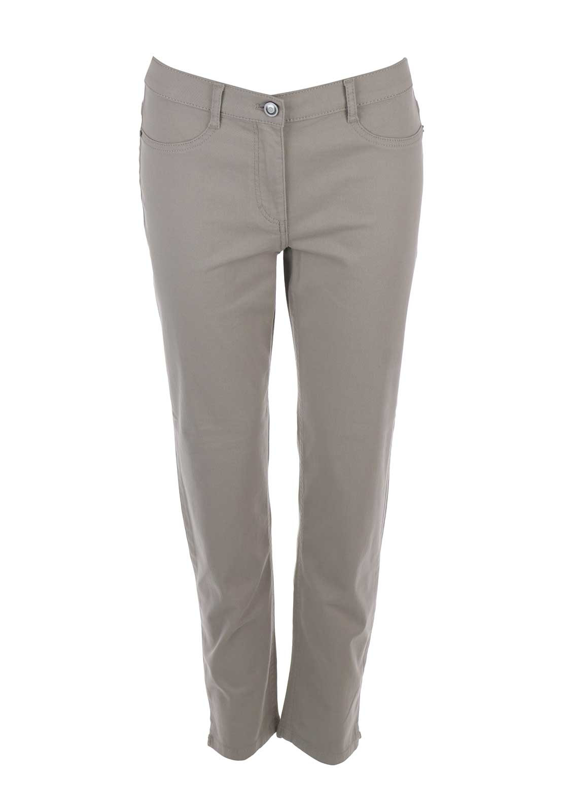 Betty Barclay 7/8 Length Slim Fit Jeans, Taupe