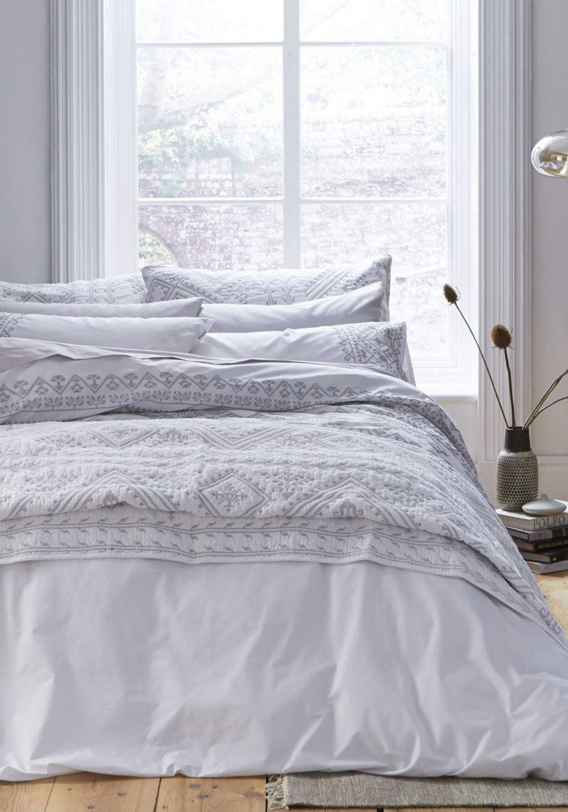 grey cover product rails ixlib aztec matalan main duvet detail