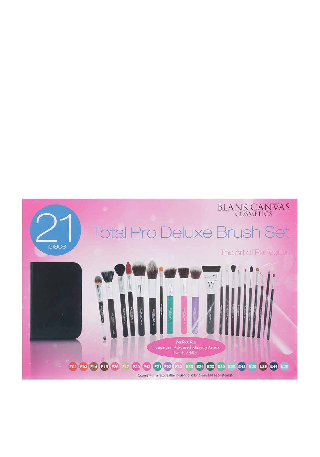 Blank Canvas 21 Piece Total Pro Deluxe Brush Set