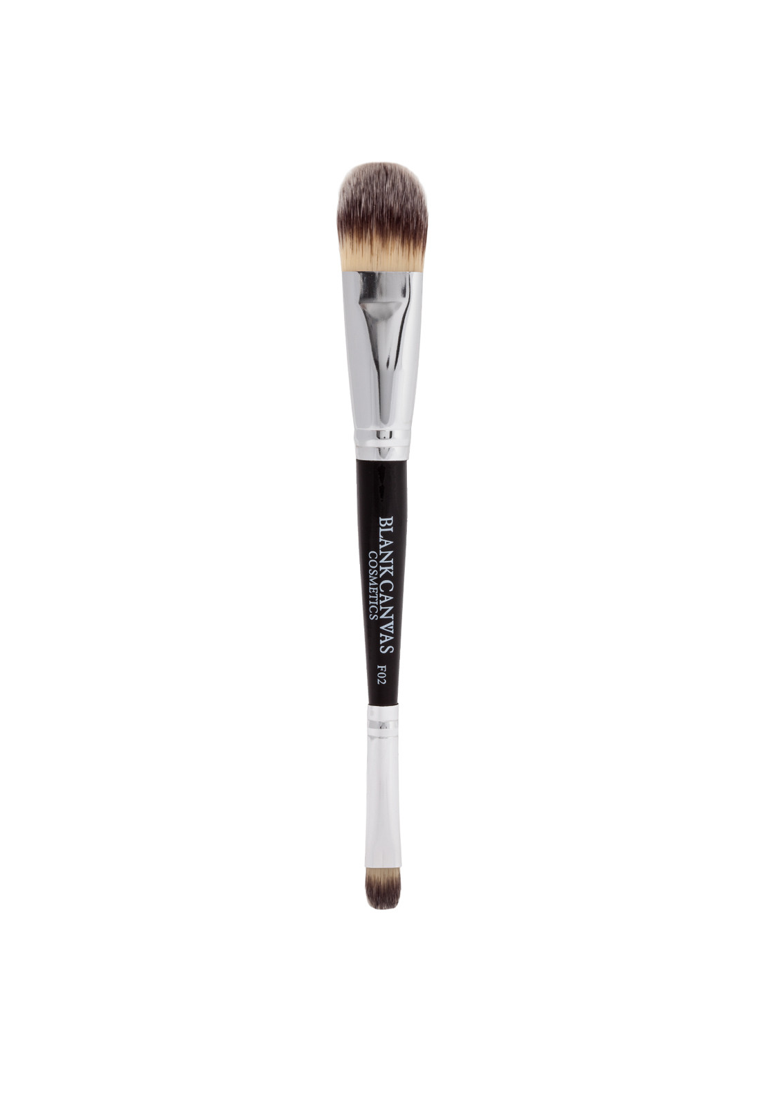 Blank Canvas Cosmetics F02 Double Ended Foundation and Concealer Brush
