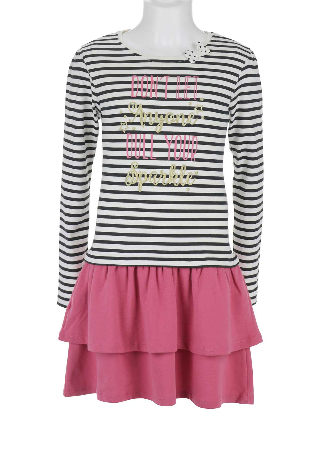 Blue Seven Girls Striped Dress, Multi-Coloured