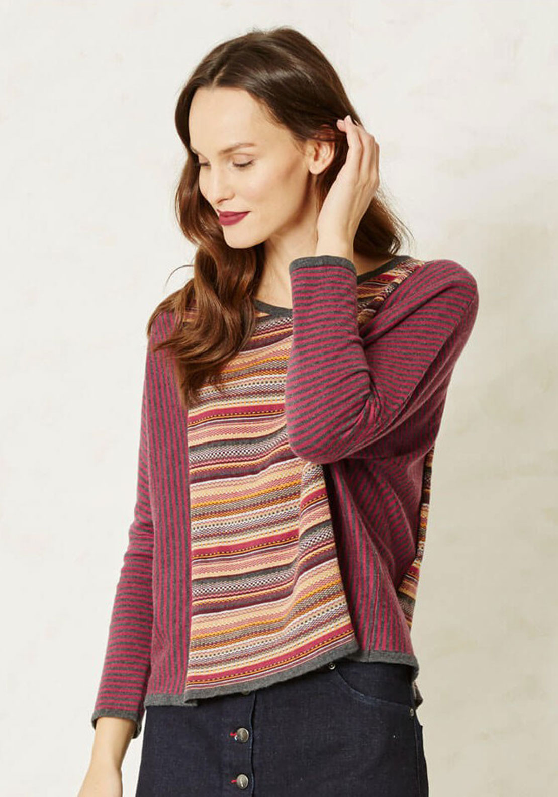 Braintree Emmi Printed Top, Wine Multi