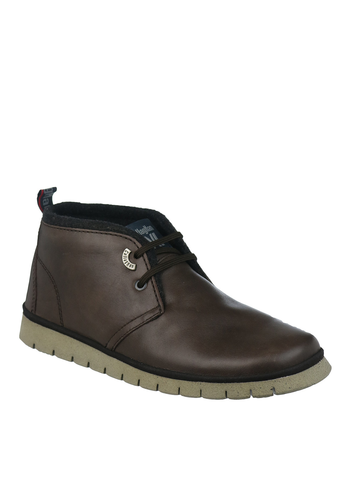 Callaghan Leather Lace Up Desert Boot, Brown