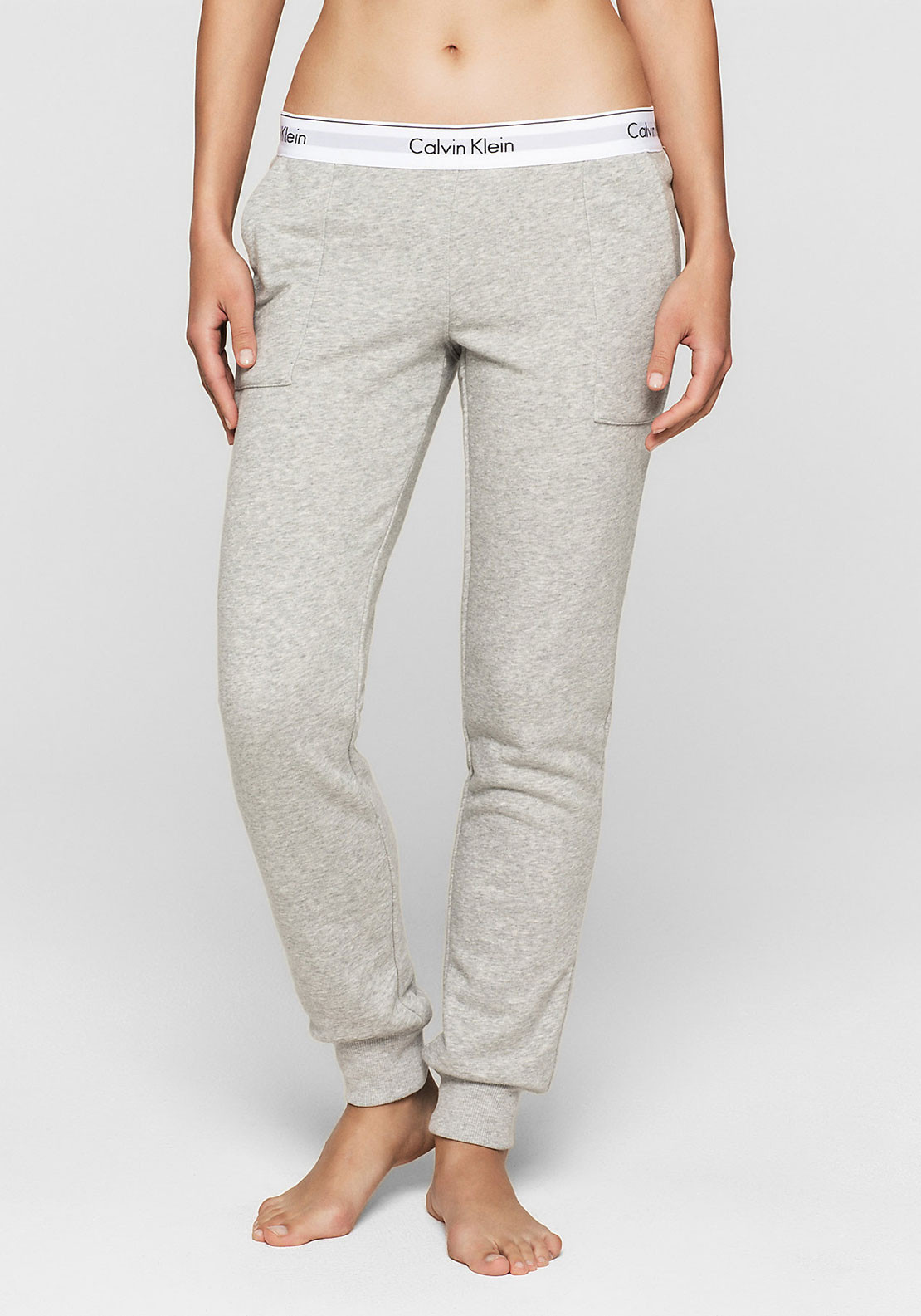 058bbf823bf0f Calvin Klein Logo Band Lounge Pants, Grey | McElhinneys