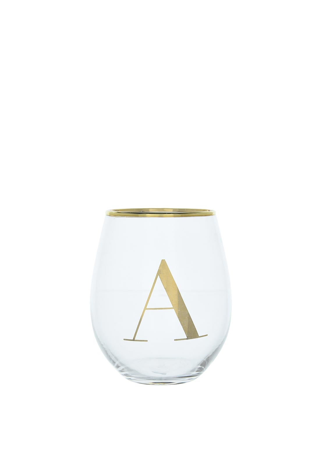 Candlelight Glass Tumbler, Initial A