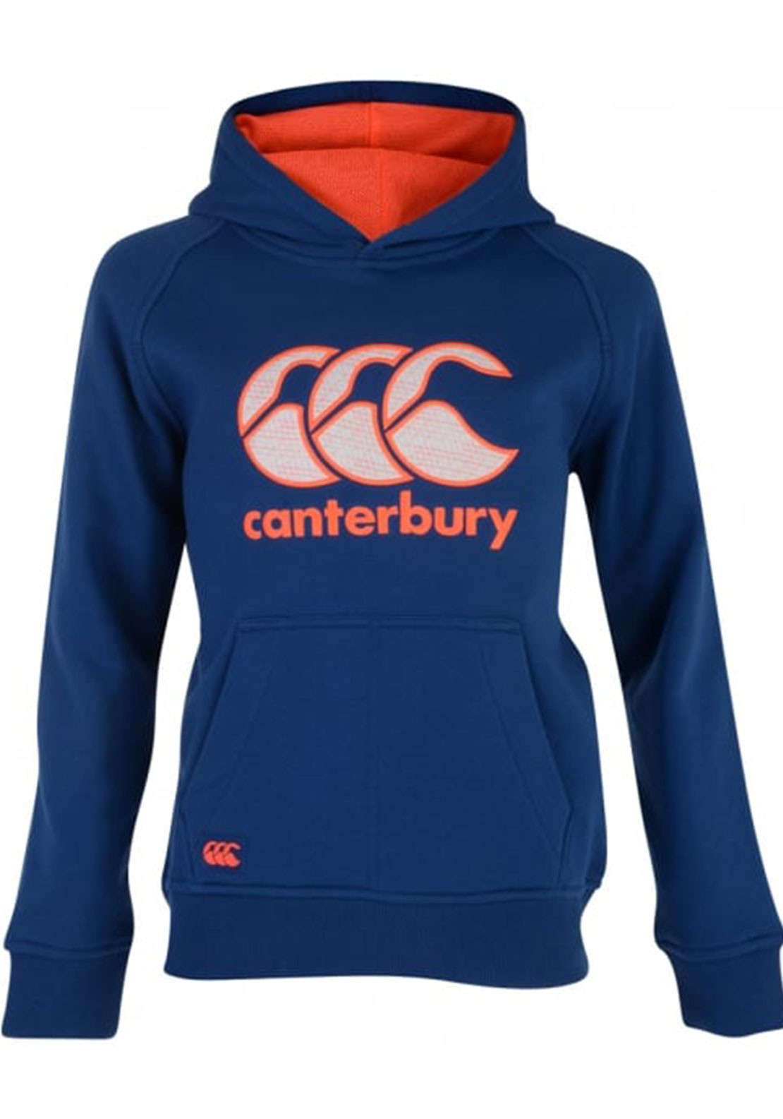 Canterbury Boys CCC Logo Hoodie, Blue and Orange