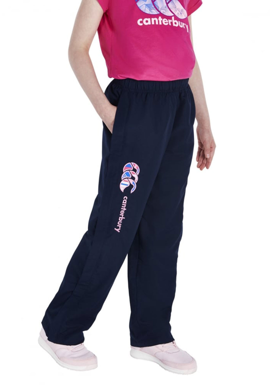Canterbury Girls Uglies Stadium Pants, Navy and Pink