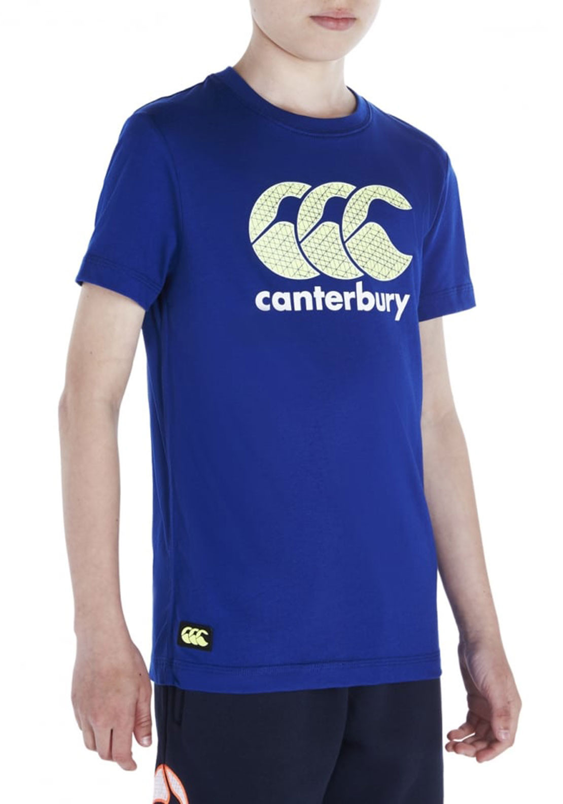 Canterbury Boys CCC Logo T-Shirt, Blue and Green