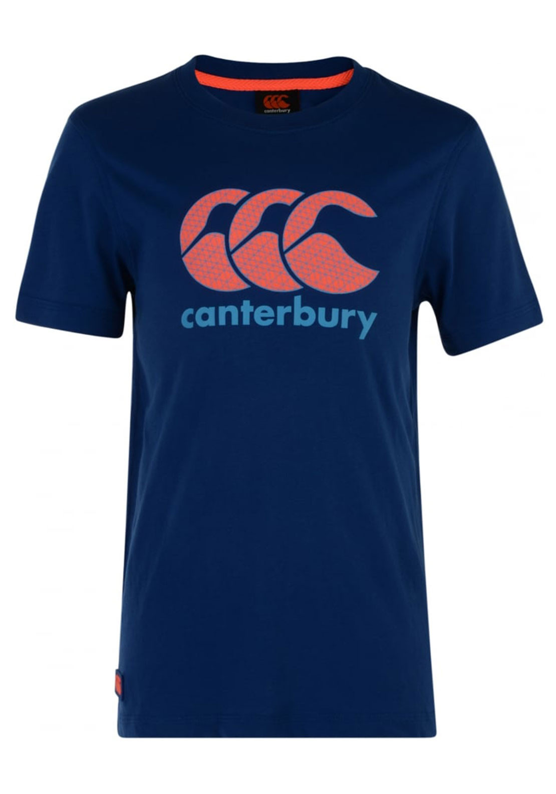 Canterbury Boys CCC Logo T-Shirt, Blue and Orange