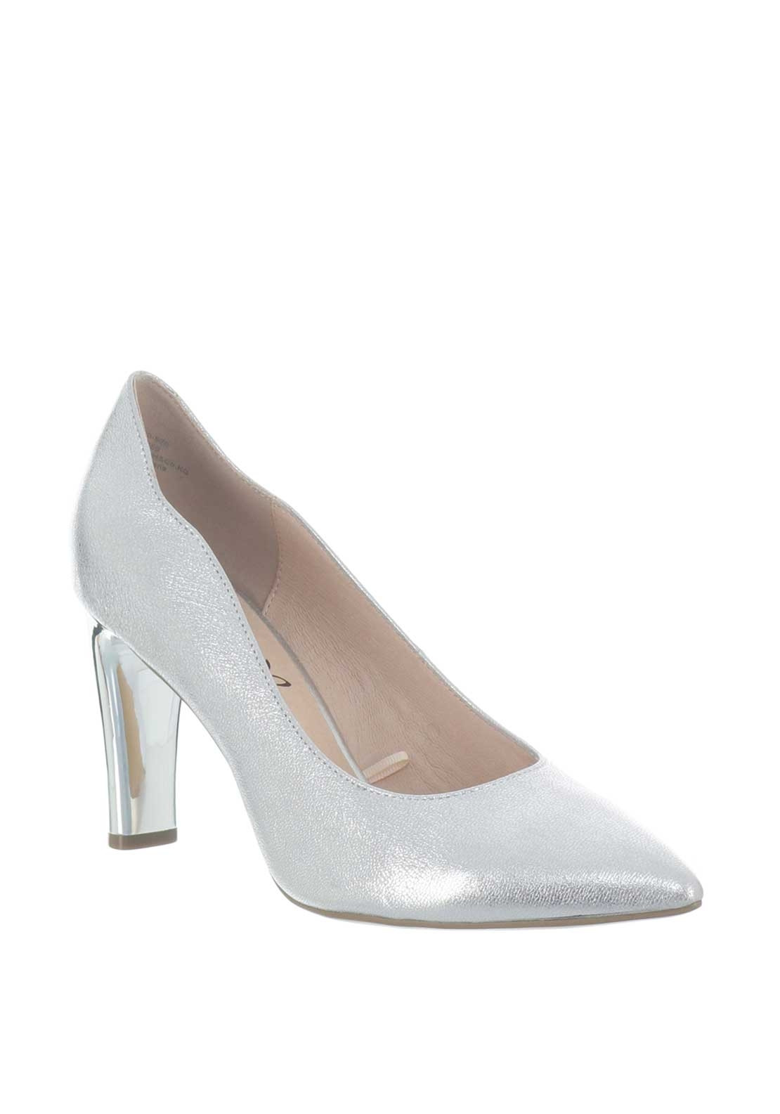 a64464885c9 Caprice Leather Metallic Pointed Toe Heeled Shoes