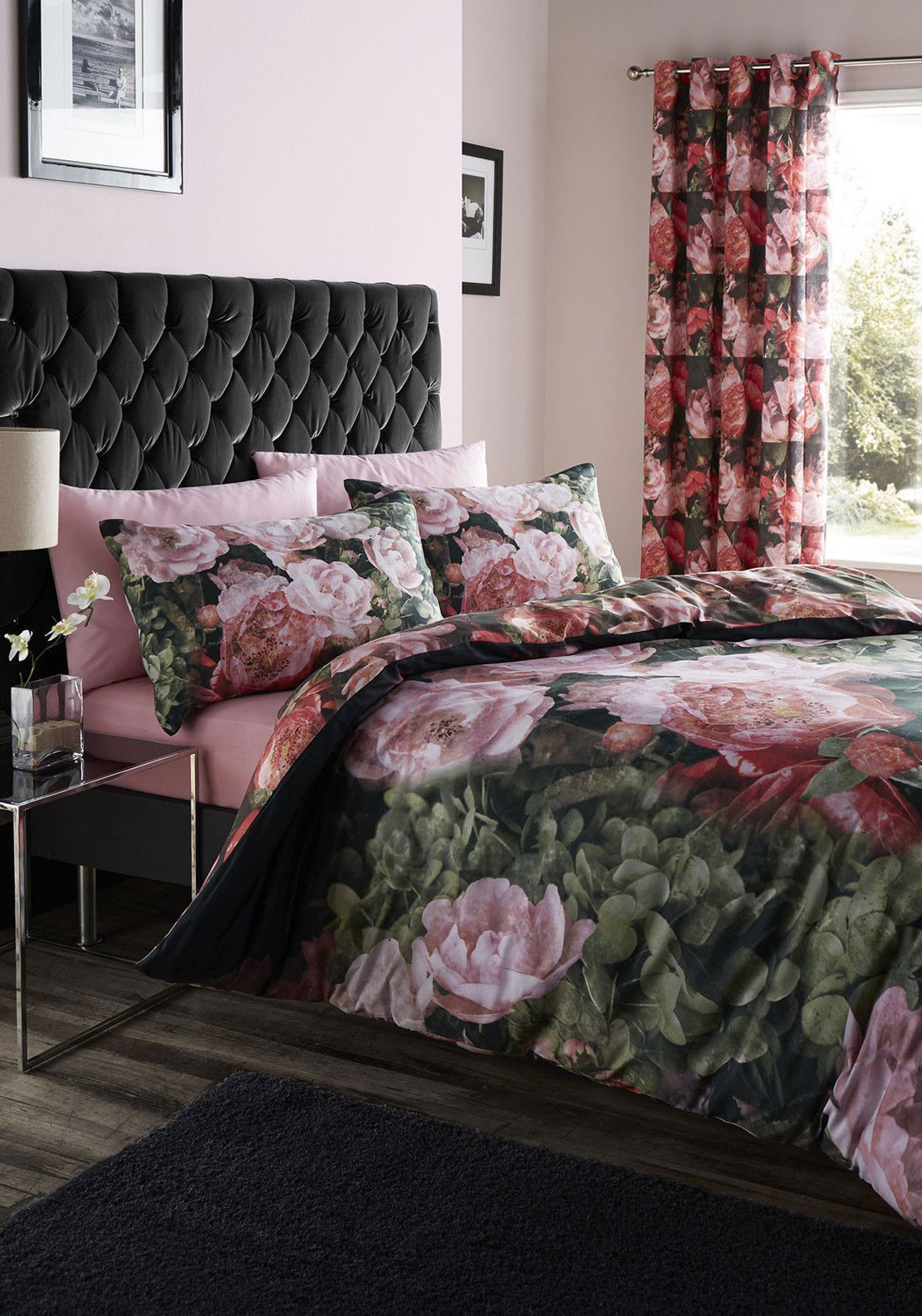 Catherine Lansfield Dramatic Floral Duvet Cover