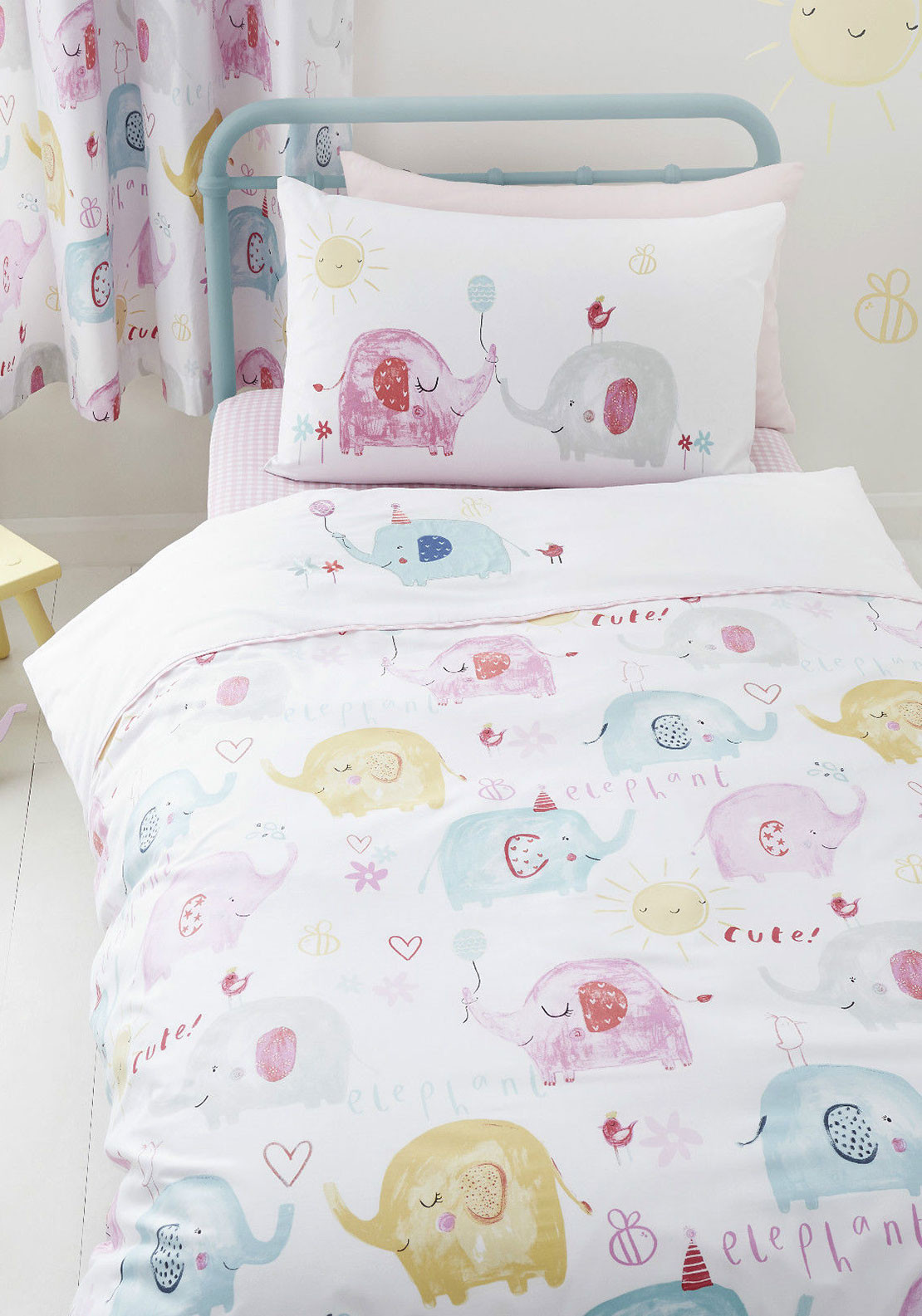 Catherine Lansfield Elephants on Parade Duvet Cover Set
