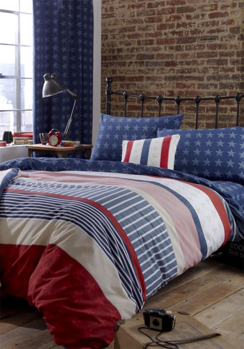 Catherine Lansfield Stars And Stripes Duvet Set, Multi-Coloured