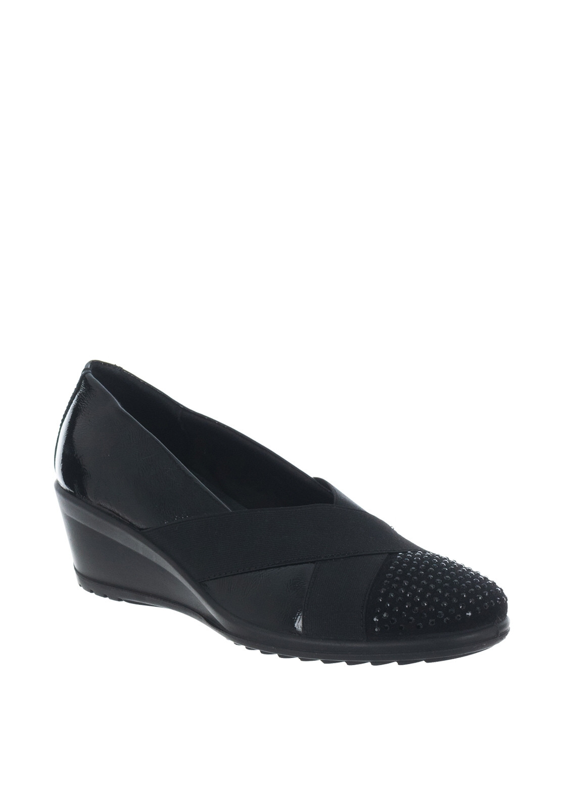 efd27cc10a7ad Van Dal Charity Patent Elastic Trim Comfort Shoes, Black. Be the first to  review this product