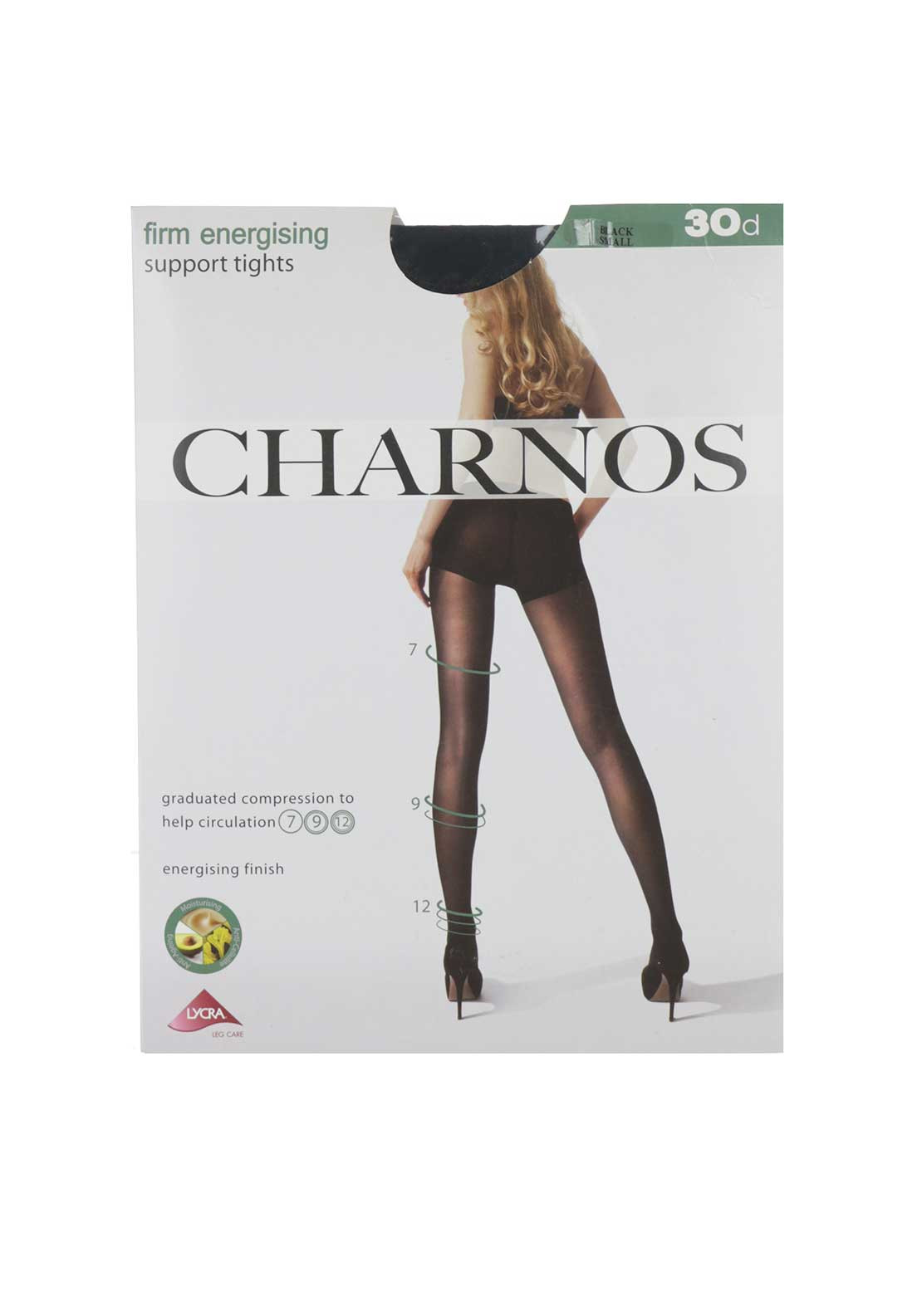 Charnos 30 Denier Firm Energising Support Tights, Black
