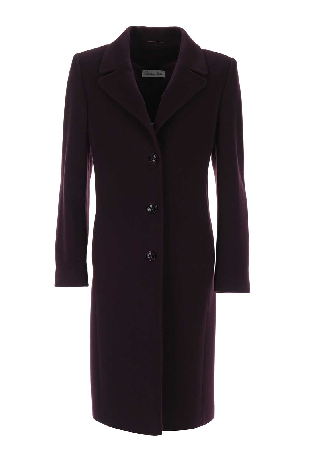 Christina Felix Wool & Cashmere Coat, Plum