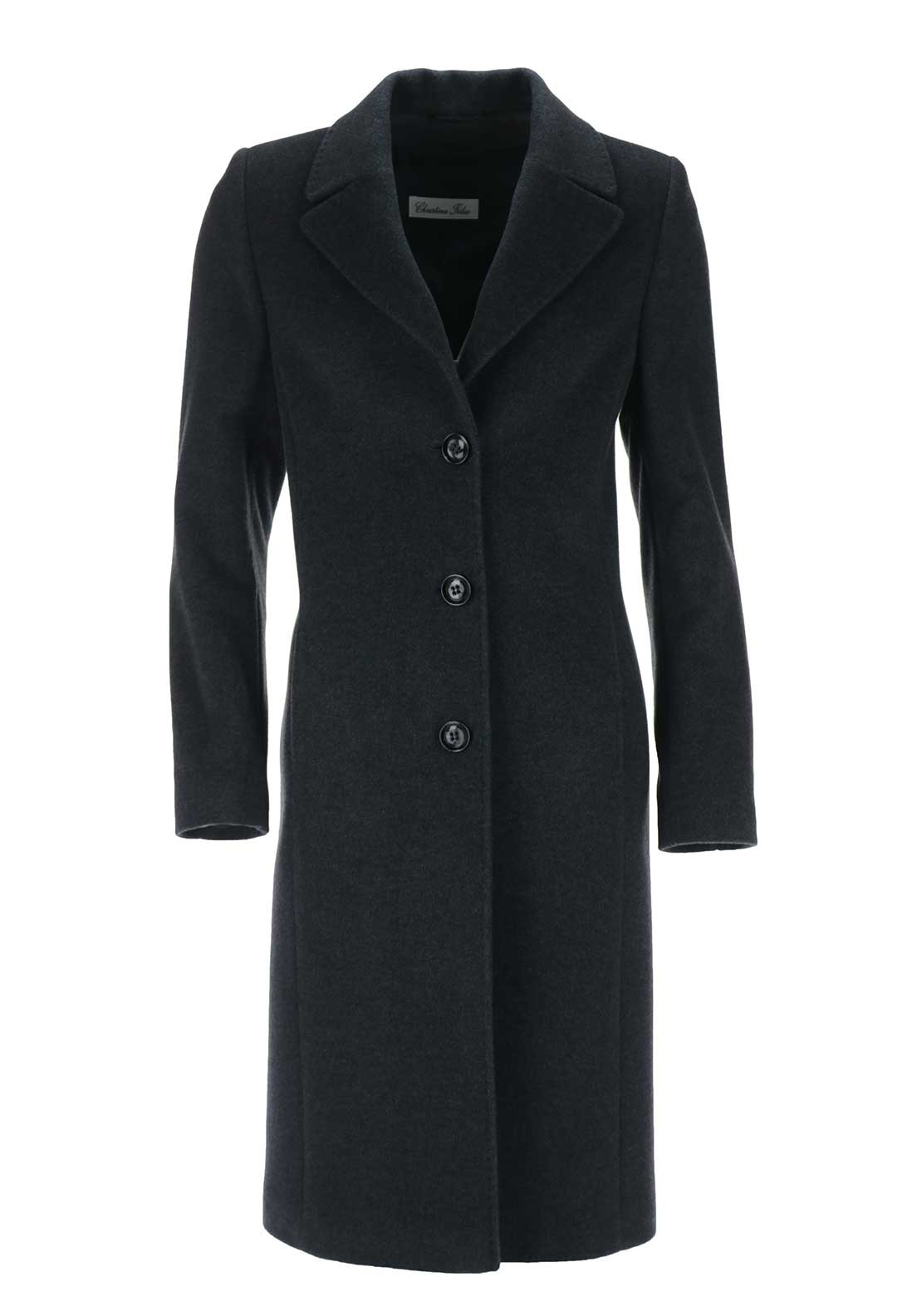 Christina Felix Wool & Cashmere Coat, Deep Grey
