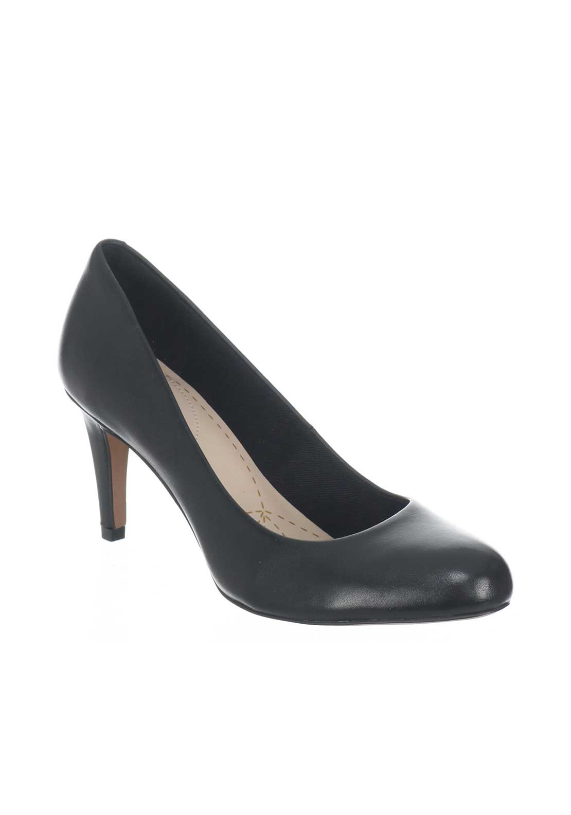 Clarks Womens Carlita Cove Court Shoes, Black